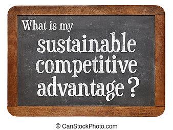 duurzaam, concept, concurrerend, voordeel