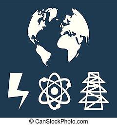 duurzaam, wereldbol, energie, schoonmaken
