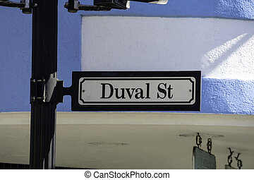 Duval Street Sign in Key West, Florida