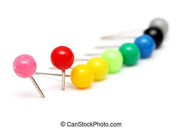 duw, kleurrijke, spelden