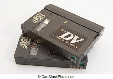 dv, ミニ, テープ
