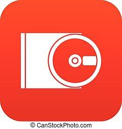 dvd, 驅動, 打開, 圖象, 數字, 紅色