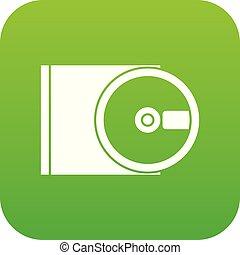 dvd, 驅動, 打開, 圖象, 數字, 綠色