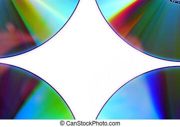 dvd, blanco, aislado, plano de fondo, cd