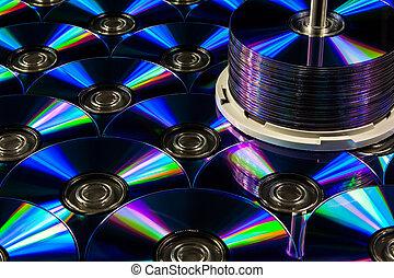 dvd, blanco, almacenamiento, digital