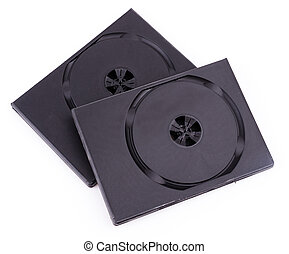 Dvd box on isolate white background
