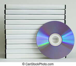 DVD cases + DVD - Stacked DVD cases and DVD