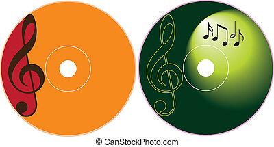dvd, -, cd, diseño, plantilla, etiqueta
