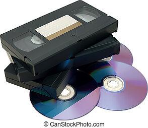 dvd, cinta, vhs