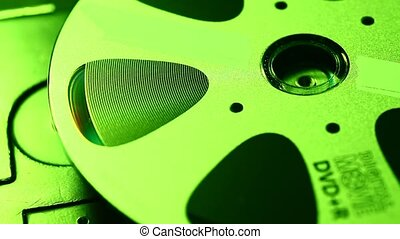 Close up of a standard DVD