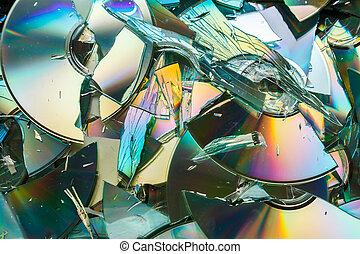 dvd, destruction:, scheiben, cd, kaputte , daten