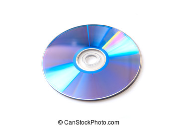 DVD disc on a white background