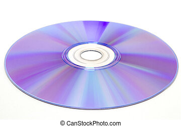 DVD disc on white background, dvd-r, dvd-rw isolated