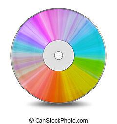 DVD disc. High quality 3d render
