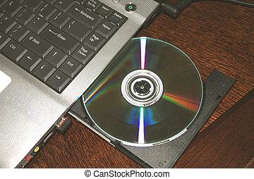 dvd disk in slot-loading drive