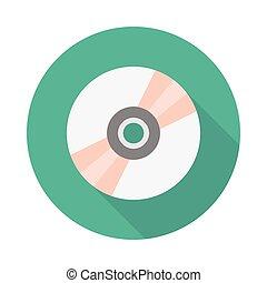 DVD flat icon