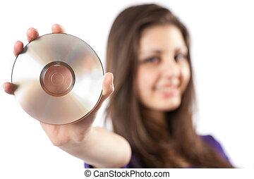 dvd, frau besitz