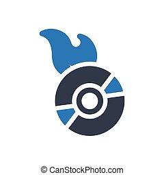 DVD  glyph color icon