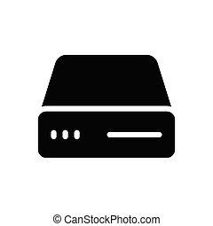DVD glyph flat icon