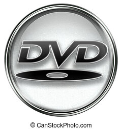 dvd, grau, ikone