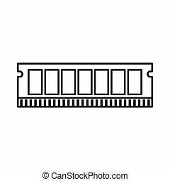 dvd personal, carnero, módulo, icono de la computadora