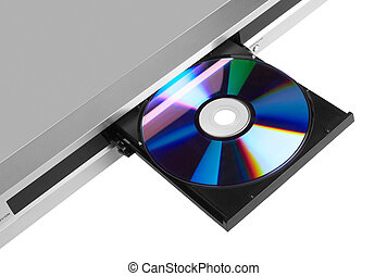 DVD player ejecting disc