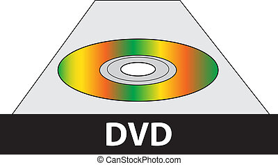 DVD player - Vector dvd player illustration isolated over...