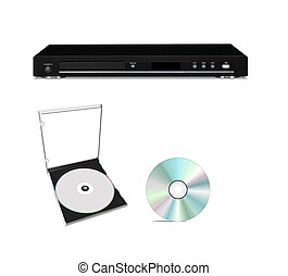 DVD player with cd disk