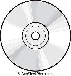 dvd, scheibe, oder, cd