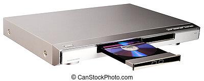 dvd, tablett, rgeöffnete, spieler