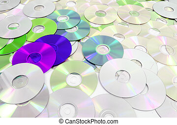 dvd technologies background - cd and dav as nice colorl...