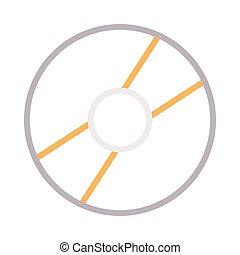 dvd thin color line vector icon