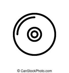 DVD thin line icon