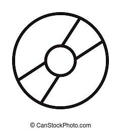 dvd thin line vector icon