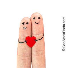dvojice, láska, šťastný