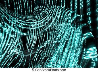 dvojkový kód, grafické pozadí