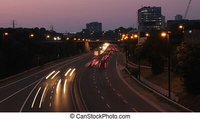 DVP looking north. Timelapse. - View of the Don Valley...