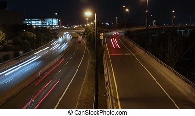 DVP looking south. Timelapse. - View of the Don Valley...