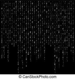 dwójkowy kodeks, potok, wektor, projektować, tło, dane