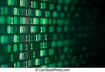 dwójkowy, tło, abstrakcyjny, technologia, komputerowe dane