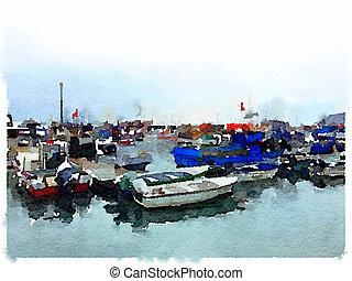 DW Fishing boats Marina