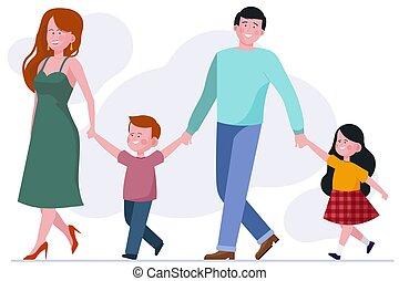 dwa dzieci, rodzina
