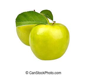 dwa, jabłka