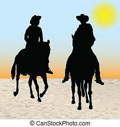dwa, kowboje