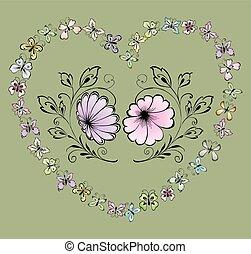 dwa, kwiaty
