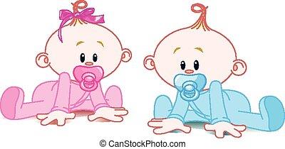 dwa, niemowlęta