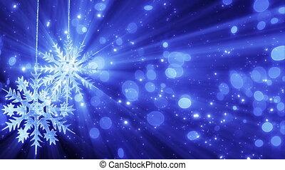 dwa, płatki śniegu, i, światła, loopable