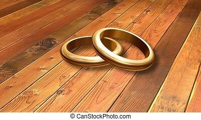 dwa, poślubne koliska