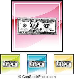 dwadzieścia, halabarda, dolar