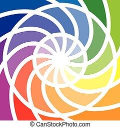 dwanaście, albo, kolor, koło, koło, kolor